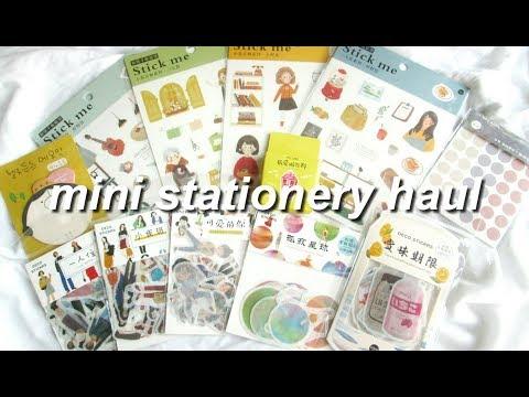— mini stationery haul 🌿🌙