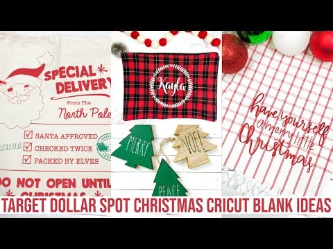 TARGET DOLLAR SPOT CRICUT BLANK IDEAS FOR CHRISTMAS 2019