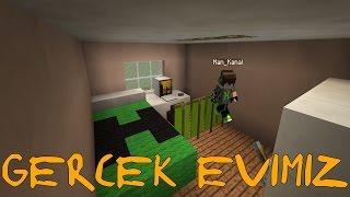 GERÇEK EVİMİZİ YAPTIK - Minecraft Modern Evler
