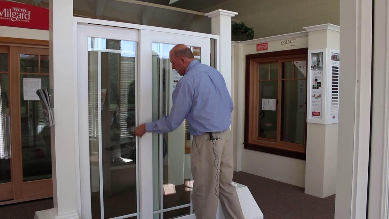 vinyl sliding doors with blinds
