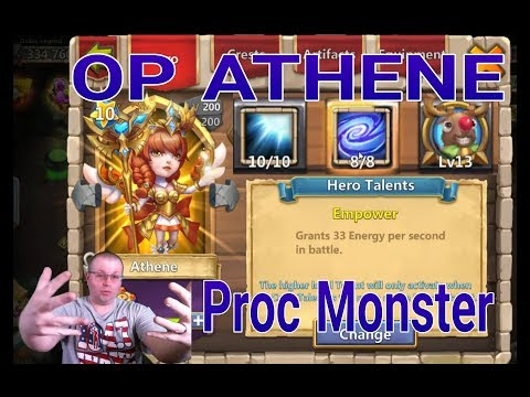 Athene 8/8 Empower Monster  OP Hero Game Play Castle Clash
