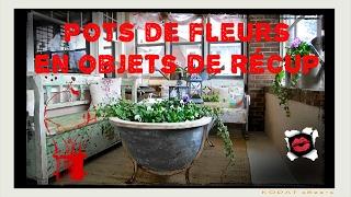 67 pots de fleurs en objets de récup pour en décorer le jardin