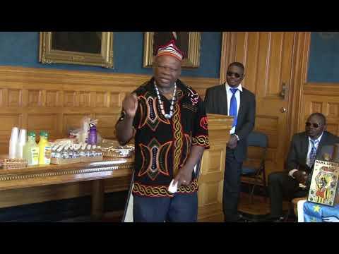 Southern Cameroons- Ambazonia Interim President visits Lowell  MA USA