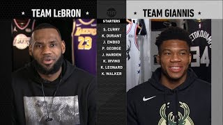 2019 NBA All-Star Drąft - Team LeBron vs Team Giannis | 2019 NBA All-Star Weekend