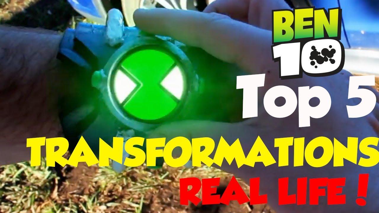 TOP 5 Ben 10 Transformations in REAL LIFE! (Ben 10 Classic)