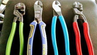 "Who Makes the BEST 8"" Diagonal Cutting Pliers?:  Irwin ( NWS ) vs. Channellock cutting test"