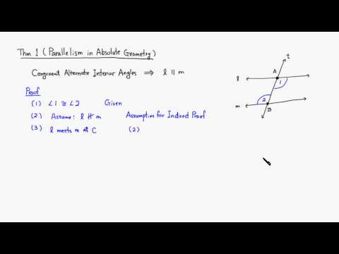 MTH 530 Parallelism in Absolute Geometry