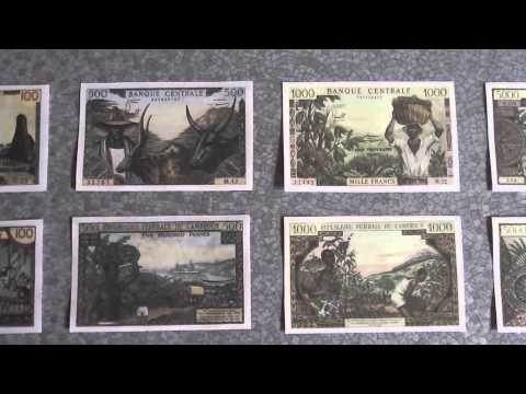 All Banknotes of Cameroon - Central African CFA franc - 100 to 10.000 Francs - 1962 to 1972 Issue