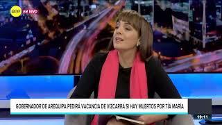 """Gobernador de Arequipa pedirá vacancia si hay muerto en """"Tía María"""""""