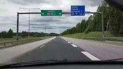 Driving in Finland: Nurmijärvi - Tampere (Valtatie 3)