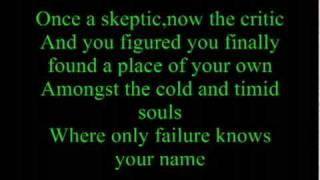 Never Take Friendship Personal by Anberlin  ( Lyrics)