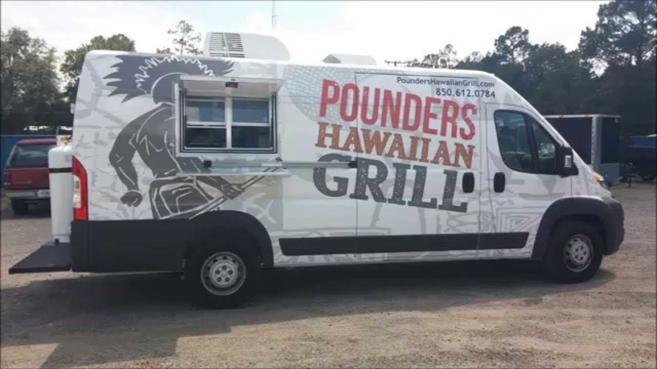 sprinter food truck with low profile hood fan