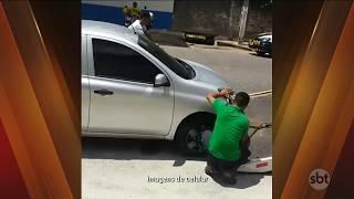 SBT PARÁ (09.08.2017) POLÊMICA: Motorista de Uber denuncia ação irregular de agentes