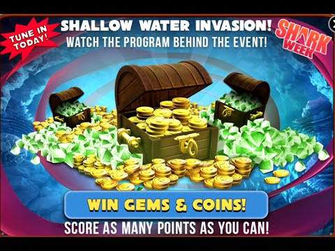 Shallow Water Invasion Win Gems & Coins Event - Hungry Shark Evolution # 1