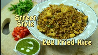 Butter Masala -  Street Style Egg Fried Rice with  Mint Chutney