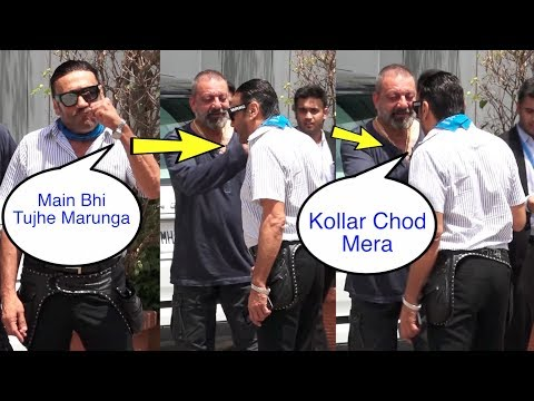 OMG ! Sanjay Dutt fighting with Jackie Shroff in front of me