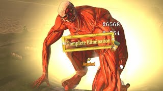 ATTACK ON TITAN 2 - Bertholdt COLOSSAL TITAN Gameplay + Dancing Titan (PS4 PRO)