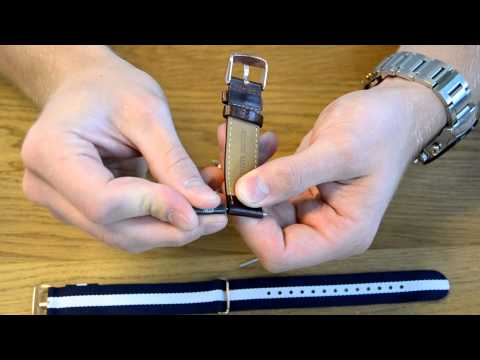 How to change the strap on a Daniel Wellington watch