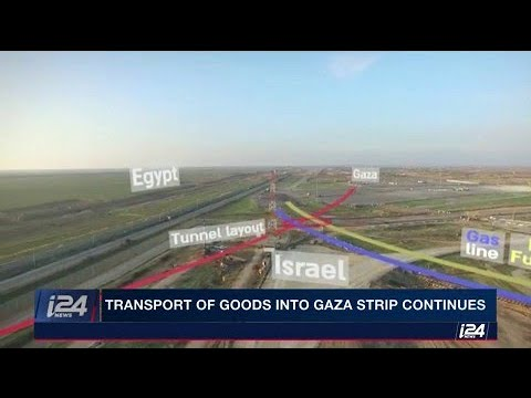 The transportation of goods into the Gaza strip continues, crossing reopens