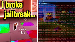 i broke roblox jailbreak... (Asimo Please Don't Ban Me)