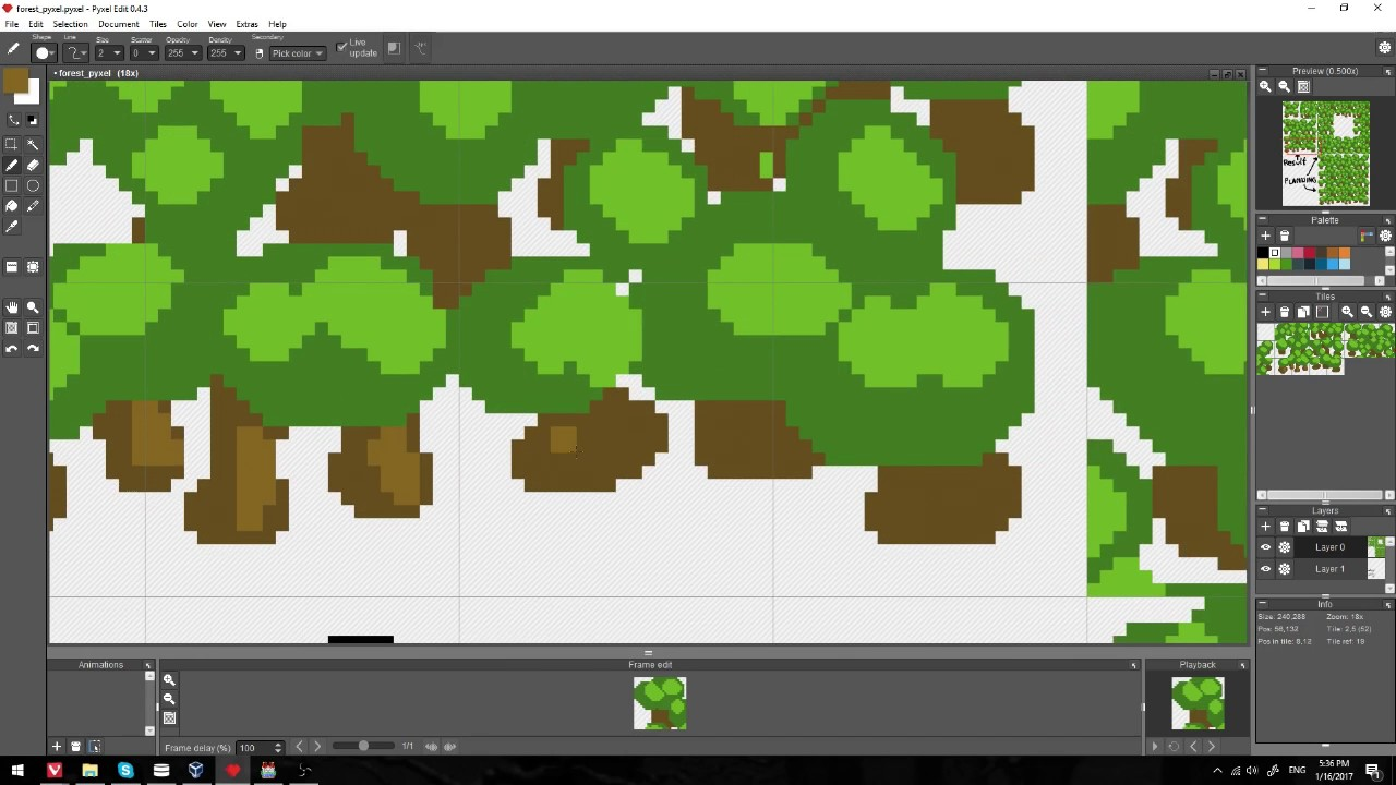 Making a Forest Autotile for RPG Maker MV with Pyxel
