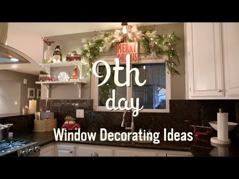 Christmas Decorations | Christmas Garland Window Ideas | 9