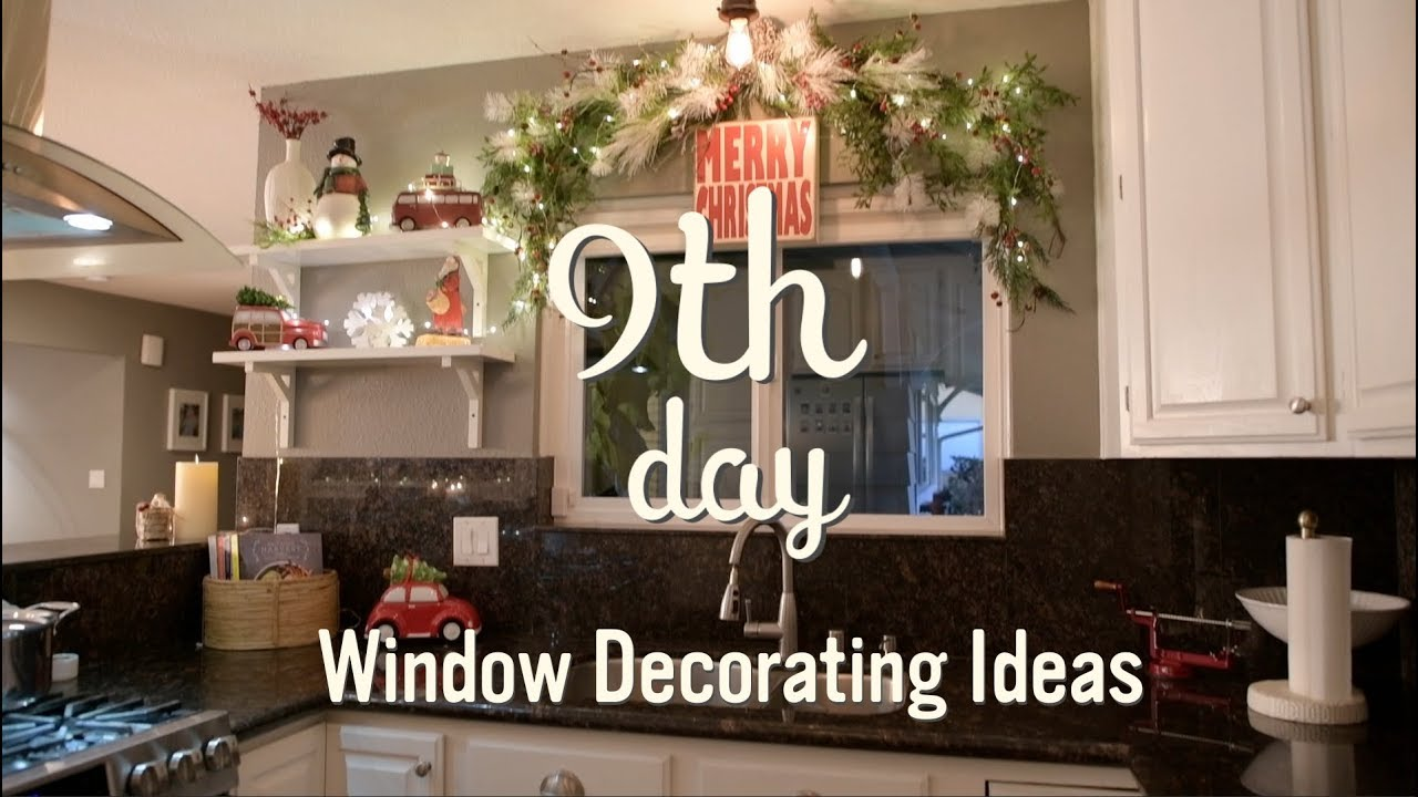 Christmas Garland Window Ideas Christmas Decorations 9 Youtube