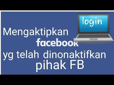 Cara mengaktifkan kembali akun facebook kita yang sudah di banned atau di nonaktifkan!!.