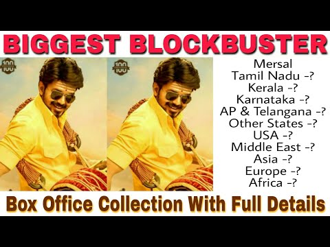 Thalapathy Vijay Mersal Worldwide Box Office Collection With Full Details - 13th Dec 2017