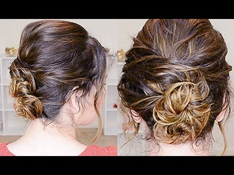 simple updo curly hair