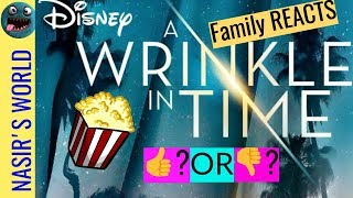 A Wrinkle In Time Trailer REACTION | Family Trailer Reaction