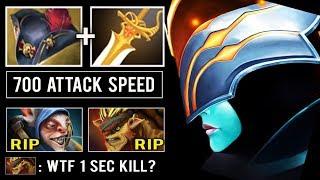 CRAZY ITEM Pirate Hat + Rapier Max Attack Speed Crit Level 30 PA Delete Enemy in 1 Sec Dota 2