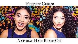 natural hair braid out perfect curls   jasmeannnn