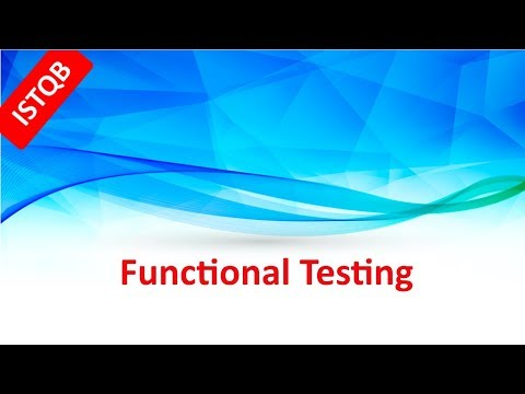 ISTQB Foundation Course. Functional Testing