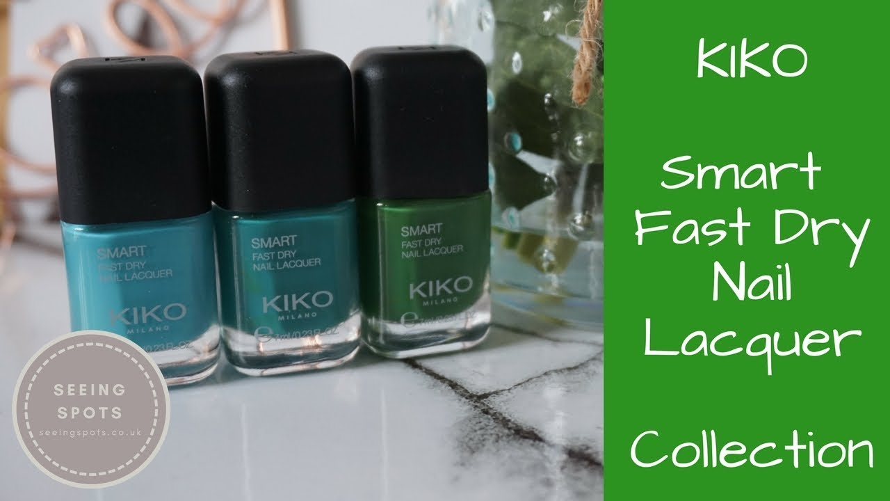 KIKO Smart Fast Dry Nail Lacquer Collection | Seeing Spots