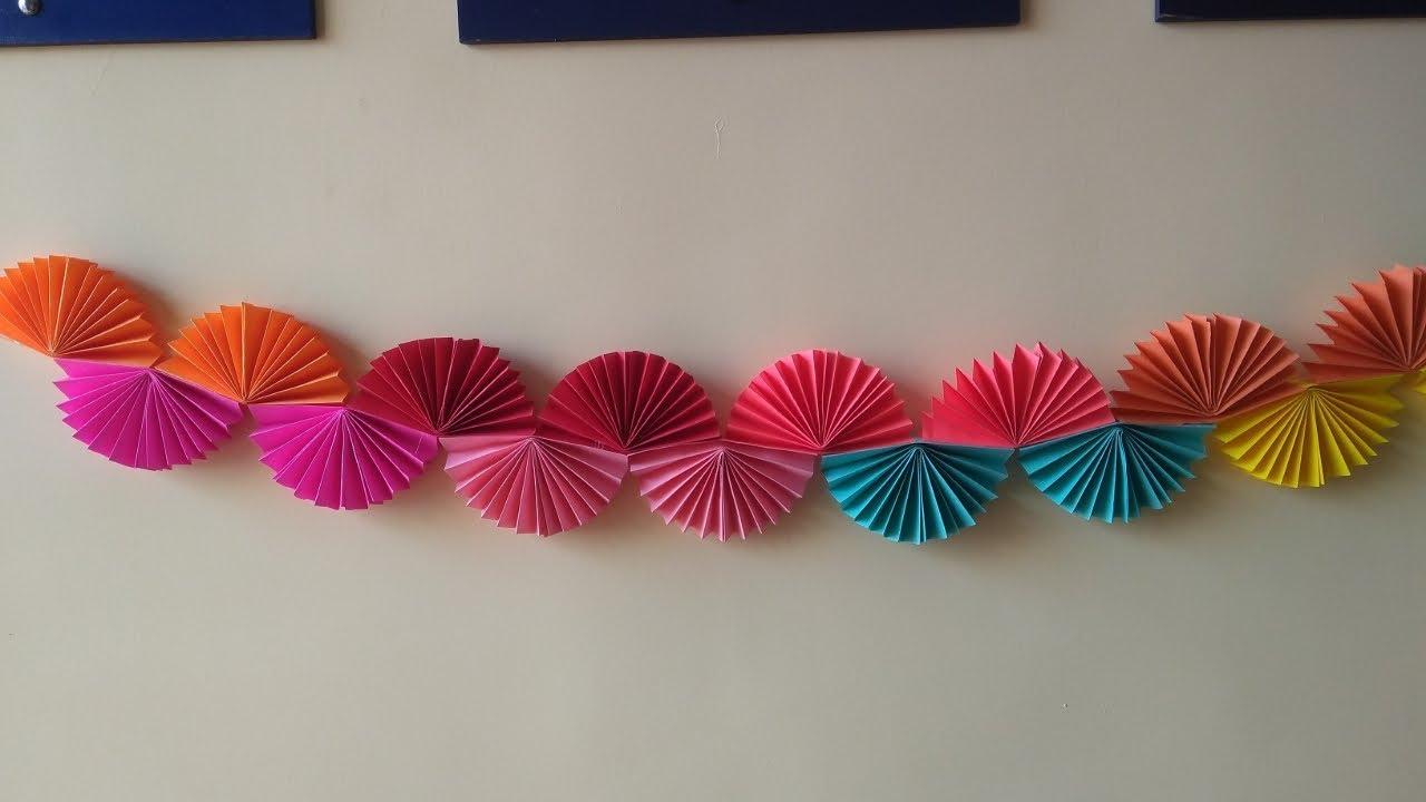 Easy DIY birthday decorations paper garland. Birthday ...