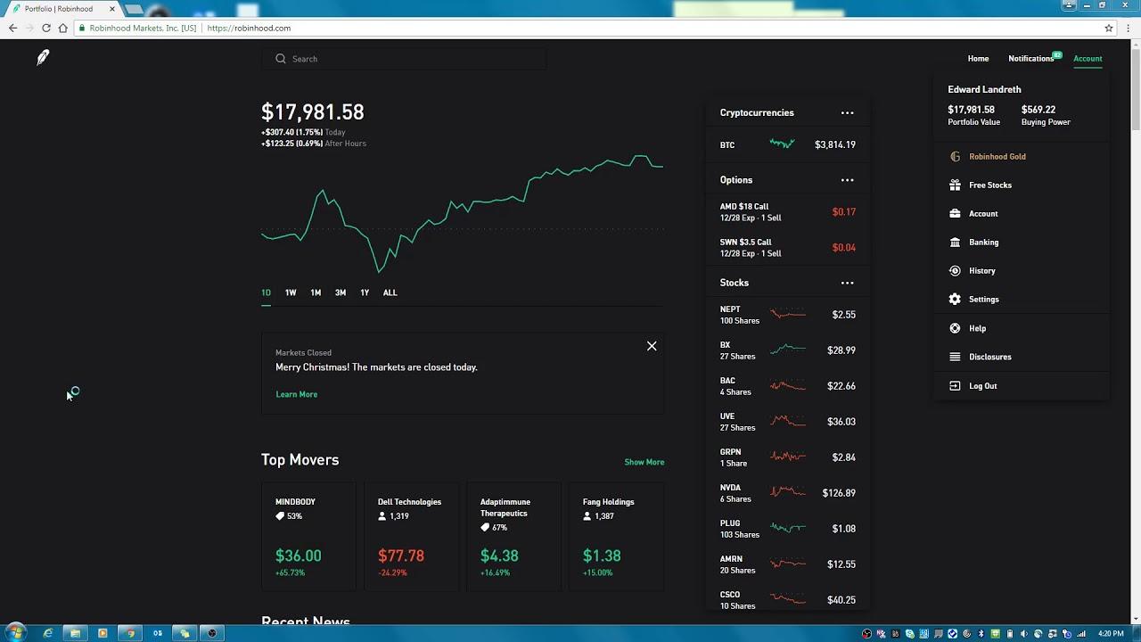 robinhood app setup stock tracker track your portfolio youtube