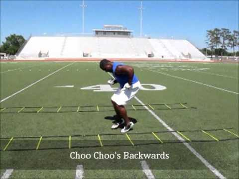 Blitz Football Camp Defensive Back Warm Up & Speed Ladder Drills