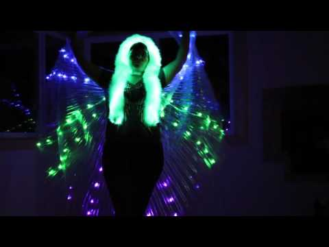 LED Belly dance ISIS wings Dance