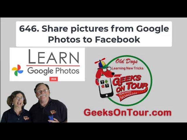 How Do I Share Google Photos to Facebook? Tutorial Video 646