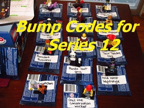bump codes lego movie minifigures series 12 youtube. Black Bedroom Furniture Sets. Home Design Ideas