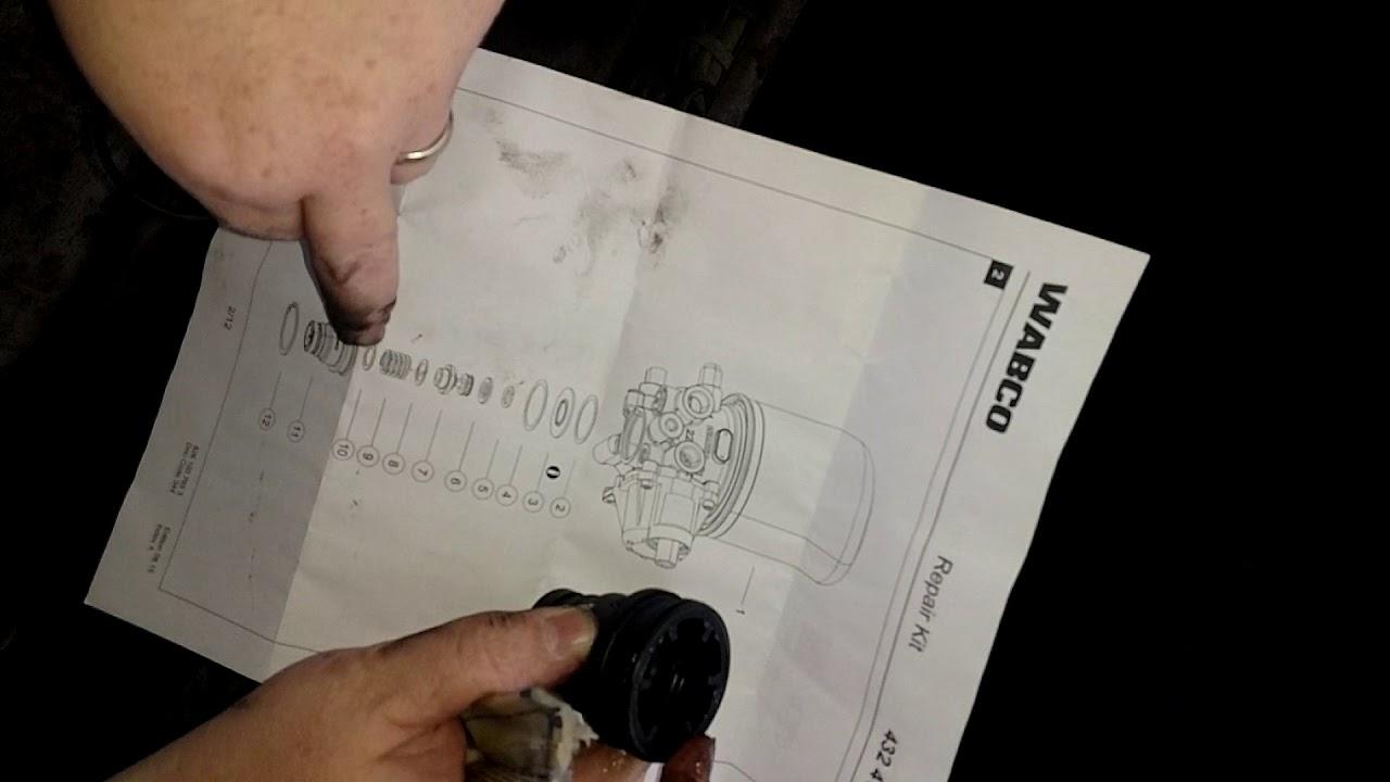 2012 VOLVO D13 AIR LEAK REPAIR, PURGE VALVE REPLACEMENT