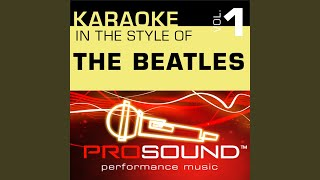 A Hard Days Night (Karaoke Lead Vocal Demo) (In the style of Beatles)