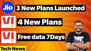 Jio New Prepaid Plans,Vi 4 New Prepaid Plans, Vodafone IDea(Vi) Free Data for 7 Days, ROGPhone3 FOTA