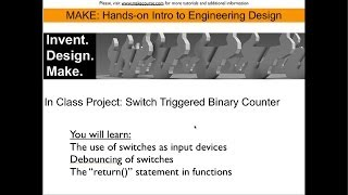 In Class Project:  Switch Triggered Binary Counter