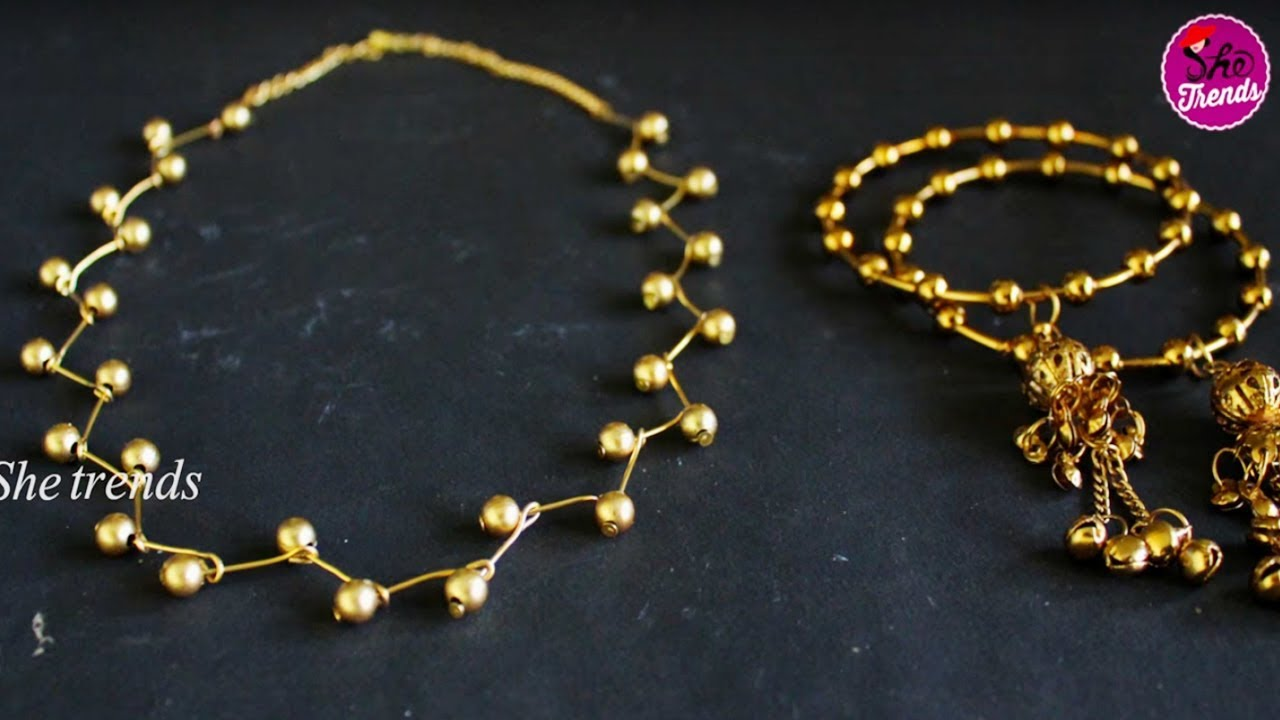 DIY: How to make Jewellery Necklace Easily at Home || Latest ...