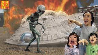 할로윈 유령 외계인이 나타났다!  외계인납치 할로윈 유령외계인 Halloween Ghost Alien invasion UFO Attack l UFO Alien is coming