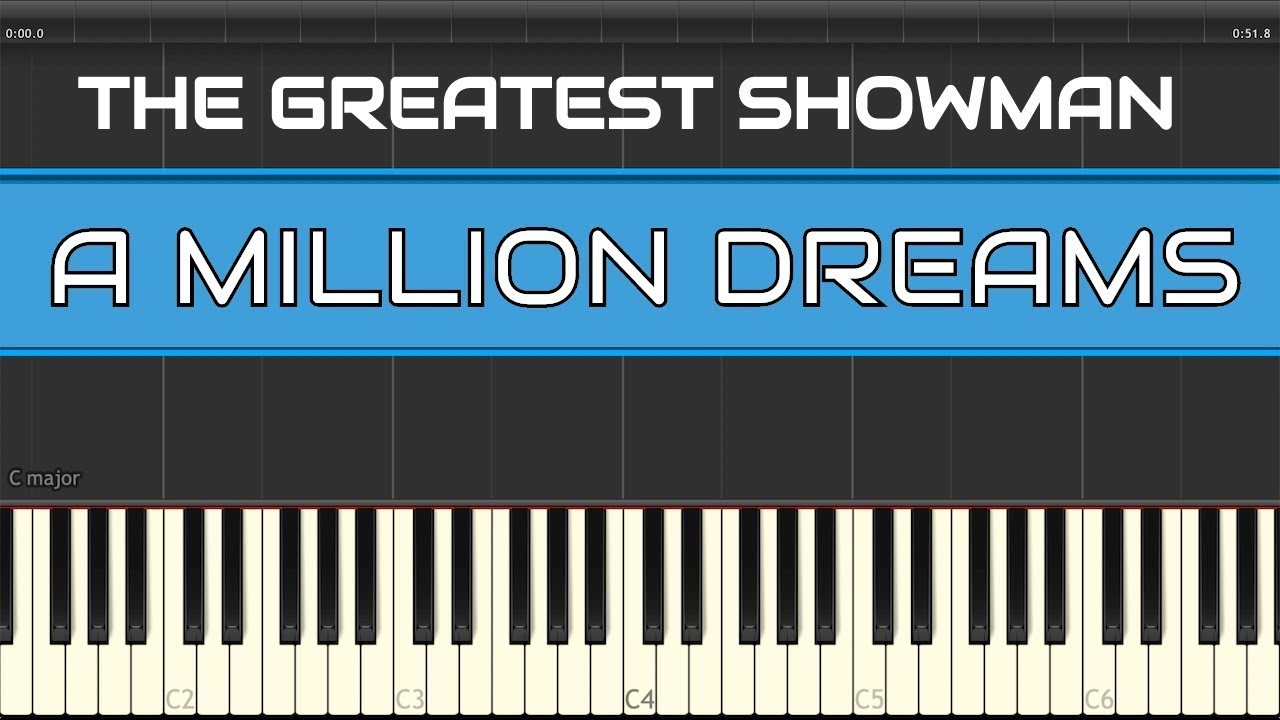 A Million Dreams The Greatest Showman Piano Tutorial Easy