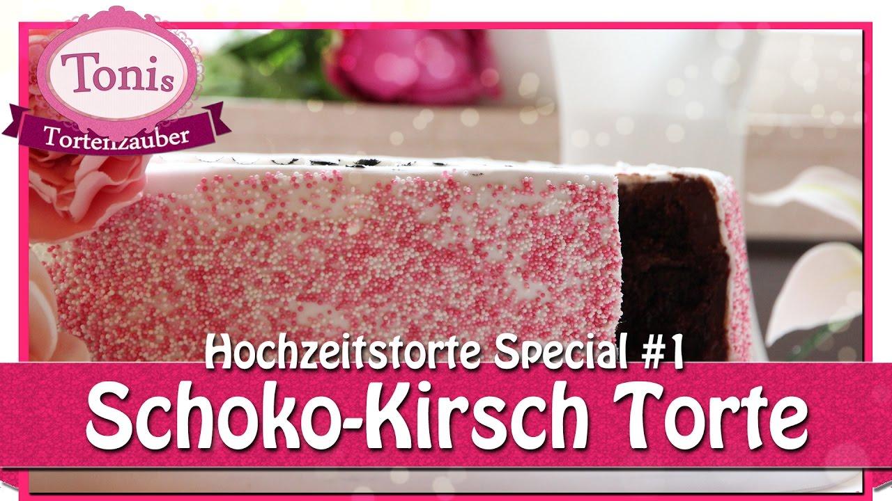 Schoko Kirsch Torte Hochzeitstorte Special Tonis Tortenzauber 0021