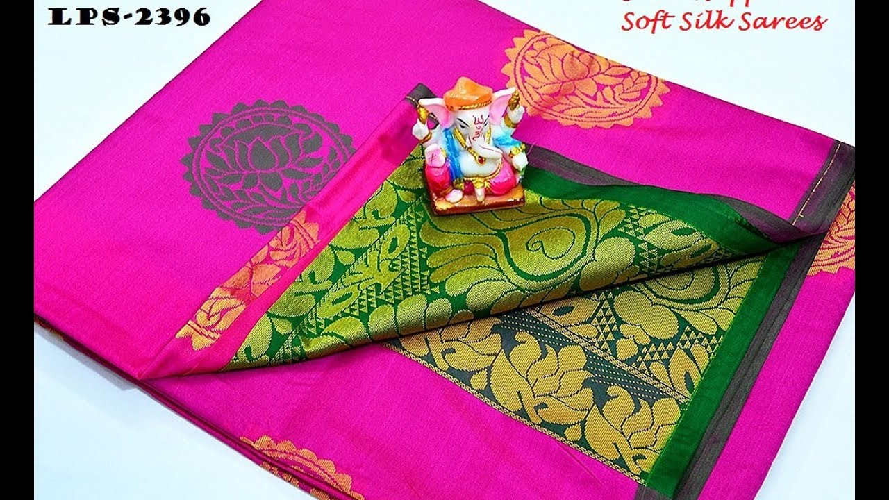new arrival semi kuppadam soft silk saree collections for wholesale price
